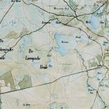 Raatakkers van De Hoenderboom op kaart uit 1850